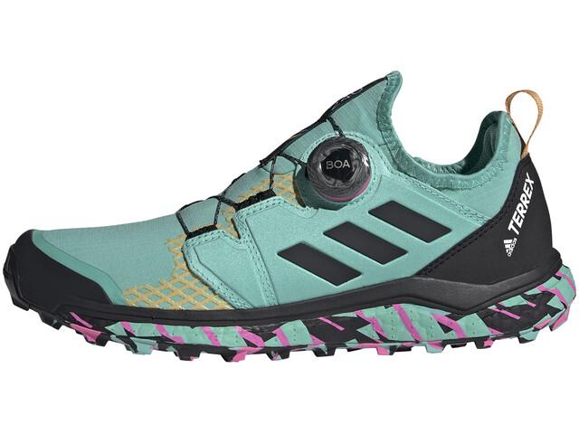 adidas TERREX Agravic Boa Trail Running Shoes Women acid mint/core black/screaming pink